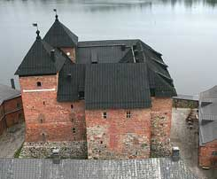 Main castle. Airphoto Kari Uotila 2008.