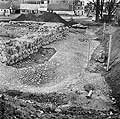 Excavation of the tower Folen (the Foal) in 1975, photo: The National Museum of Denmark