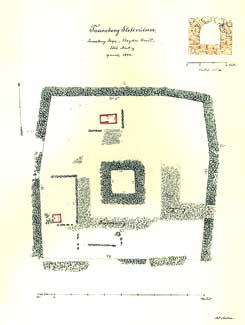 Plan of the castle, drawing: A.P. Madsen (1894), The National Museum of Denmark
