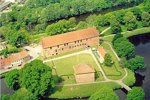 Aerial view, photo: Nyborg Slot/Østfyns Museer